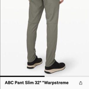Lululemon ABC slim pants men 33